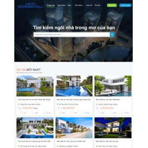 Mẫu web bất động sản premium 1